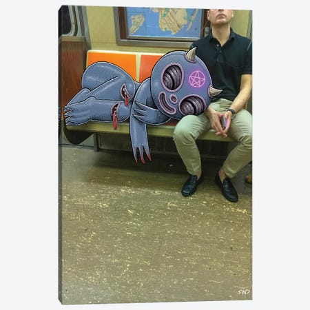 Familiar Canvas Print #SWY15} by Subway Doodle Canvas Wall Art