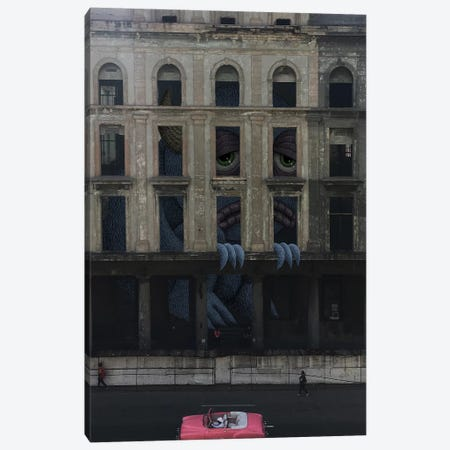 Havana Canvas Print #SWY17} by Subway Doodle Canvas Artwork