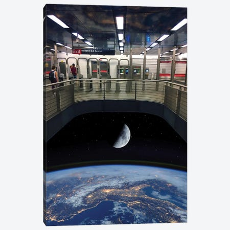 72nd Street Space Station Canvas Print #SWY1} by Subway Doodle Canvas Art Print