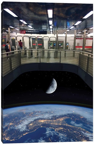 72nd Street Space Station Canvas Art Print