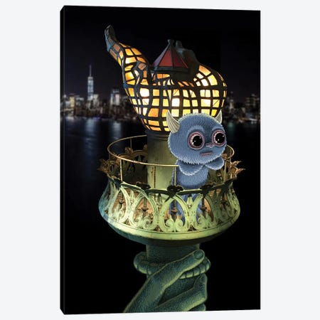 Liberty Canvas Print #SWY22} by Subway Doodle Canvas Artwork