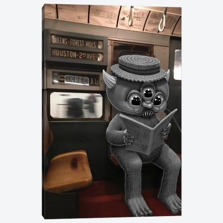 Nostalgia Train Canvas Print #SWY27} by Subway Doodle Canvas Art Print