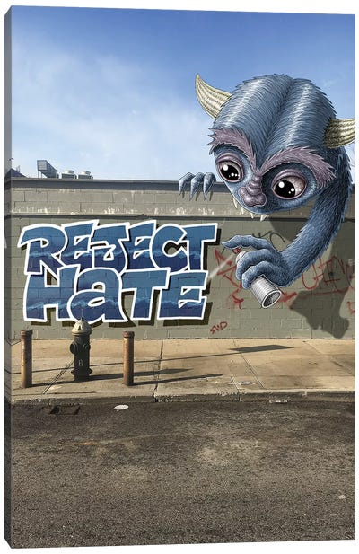 Reject Hate Canvas Art Print