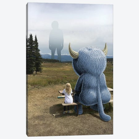 Rocky Mt Giant Canvas Print #SWY35} by Subway Doodle Canvas Art