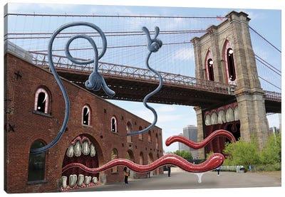 St. Anne's Warehouse Brooklyn Bridge Canvas Art Print