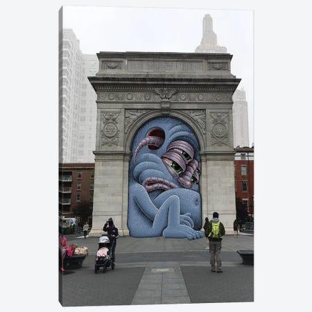 Washington Square Arch Canvas Print #SWY55} by Subway Doodle Canvas Art