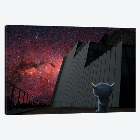 Whitney Stars Canvas Print #SWY62} by Subway Doodle Canvas Artwork