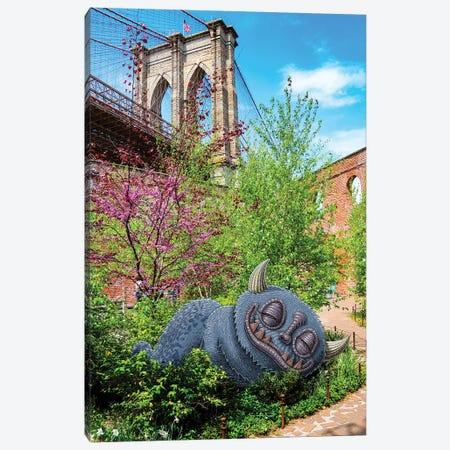 Brooklyn Bridge Nap Canvas Print #SWY6} by Subway Doodle Canvas Wall Art