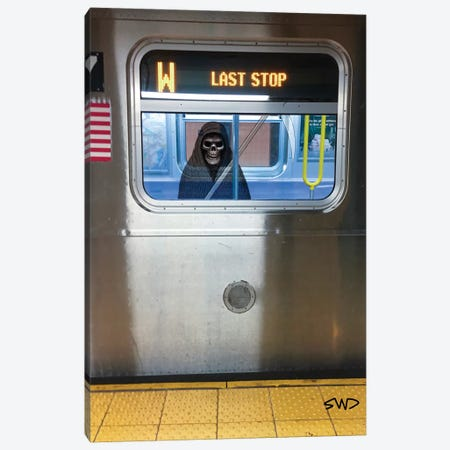 Last Stop Canvas Print #SWY70} by Subway Doodle Canvas Print