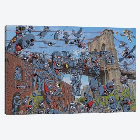 Buzzed Puzzles Canvas Print #SWY8} by Subway Doodle Canvas Art Print