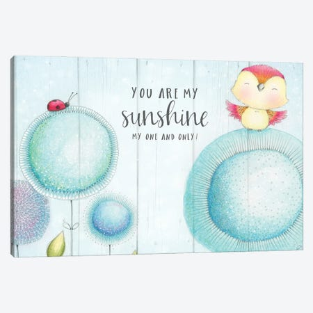 You Are My Sunshine Canvas Print #SYA133} by Stacey Yacula Canvas Artwork