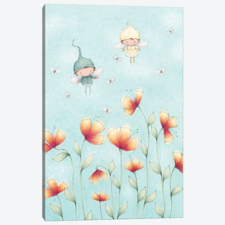 Butterfly Keepers Canvas Print #SYA33} by Stacey Yacula Canvas Artwork