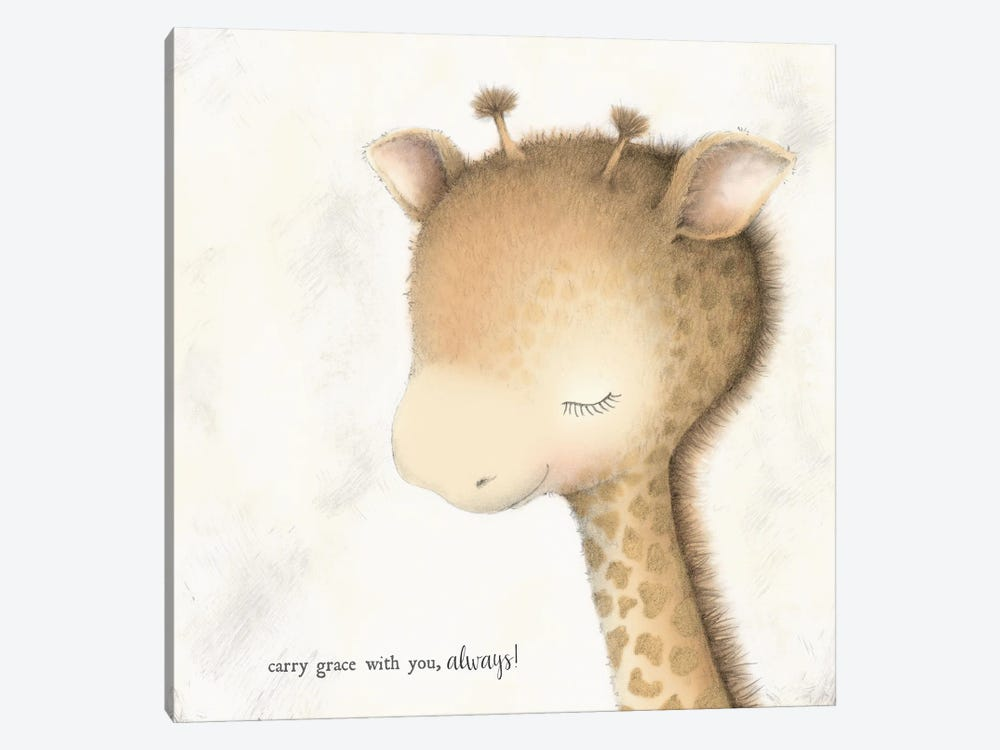 Giraffe by Stacey Yacula 1-piece Canvas Art