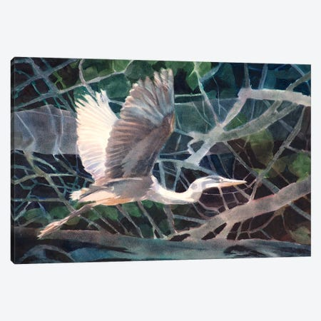 Great Blue Canvas Print #SYE13} by Sarah Yeoman Canvas Wall Art