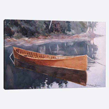 Guide Boat Canvas Print #SYE14} by Sarah Yeoman Art Print