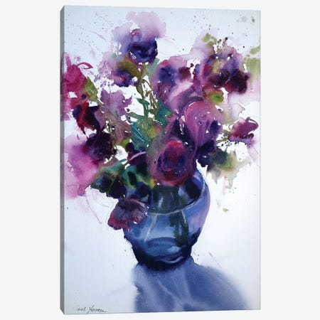 Lisianthus Canvas Print #SYE23} by Sarah Yeoman Canvas Art Print