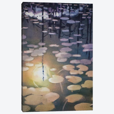 Night Lily Canvas Print #SYE25} by Sarah Yeoman Canvas Artwork