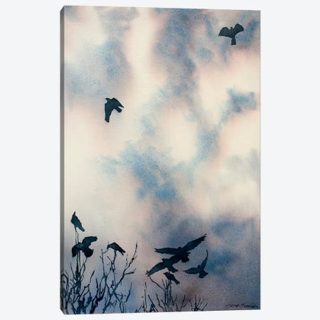 As The Crows Fly Canvas Print #SYE2} by Sarah Yeoman Canvas Wall Art