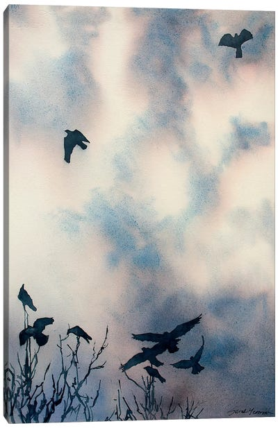 As The Crows Fly Canvas Art Print