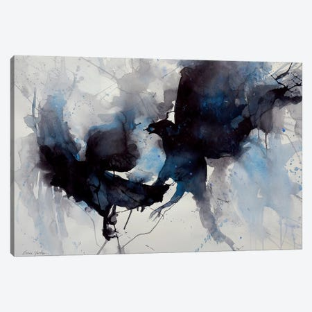 Tangled Up In Blue Canvas Print #SYE35} by Sarah Yeoman Canvas Art Print