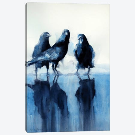 The Three Graces Canvas Print #SYE41} by Sarah Yeoman Art Print