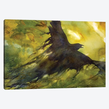 Wind Crow Canvas Print #SYE50} by Sarah Yeoman Canvas Artwork