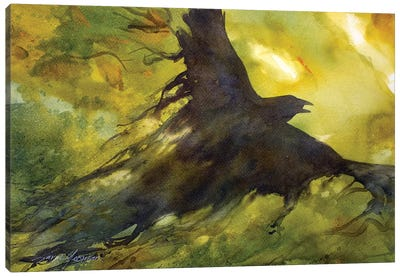 Wind Crow Canvas Art Print