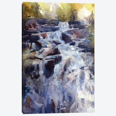 Falls Canvas Print #SYE54} by Sarah Yeoman Canvas Art Print