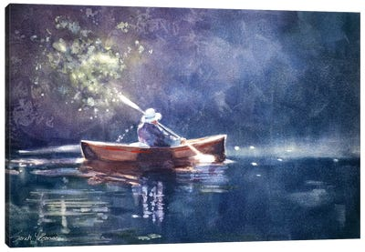 Jane in the light Canvas Art Print