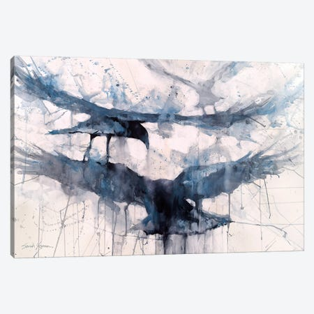 3 Crows Canvas Print #SYE63} by Sarah Yeoman Art Print