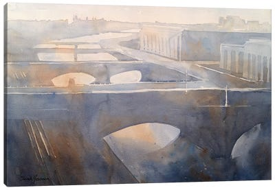 Philadelphia Schuylkill River Canvas Art Print