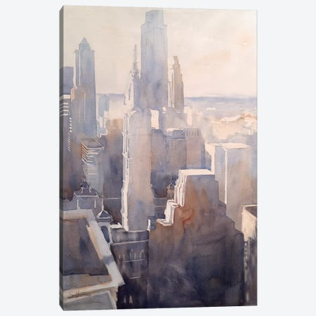 Philadelphia Story 3-Piece Canvas #SYE67} by Sarah Yeoman Canvas Wall Art