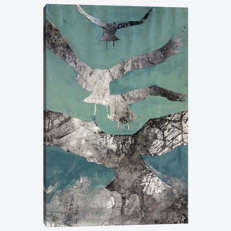 Charcoal Crows Canvas Print #SYE6} by Sarah Yeoman Canvas Print