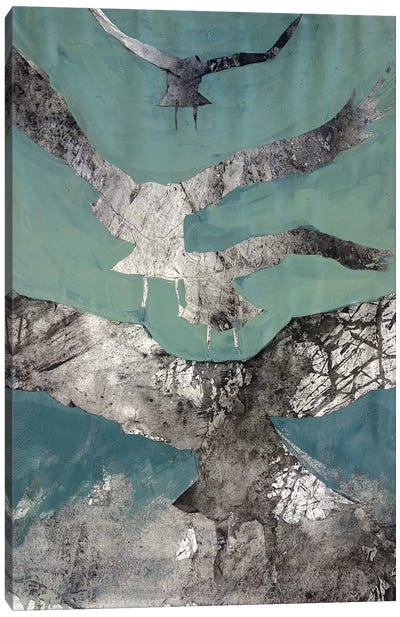 Charcoal Crows Canvas Art Print