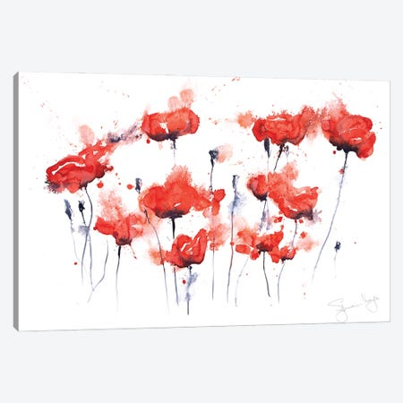 Poppy Group I Poppies Canvas Print #SYK120} by Syman Kaye Canvas Print