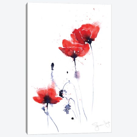 Poppy Group II Canvas Print #SYK121} by Syman Kaye Canvas Print