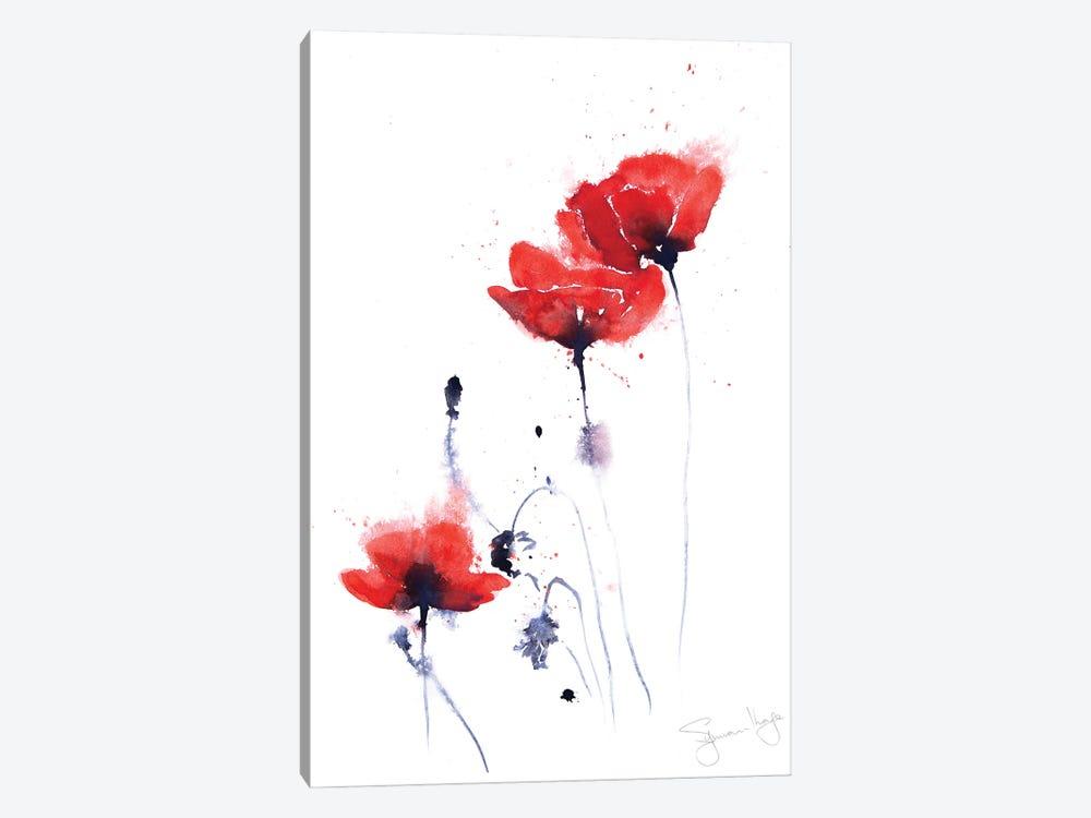 Poppy Group II by Syman Kaye 1-piece Canvas Artwork
