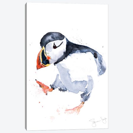 Puffin Sprout Canvas Print #SYK127} by Syman Kaye Canvas Wall Art