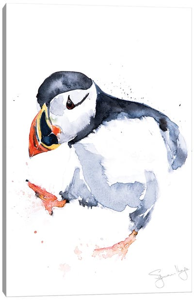 Puffin Sprout Canvas Art Print
