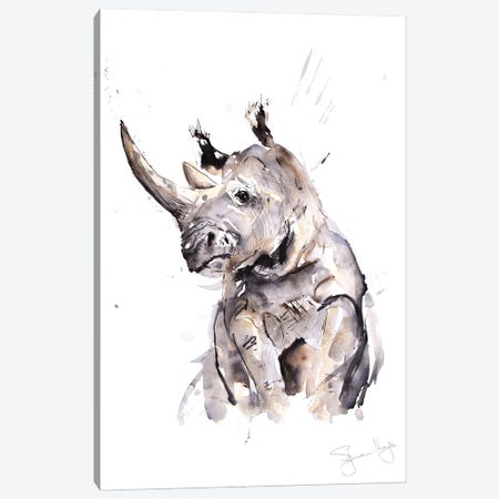 Rhino I Canvas Print #SYK129} by Syman Kaye Art Print