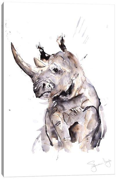 Rhino I Canvas Art Print