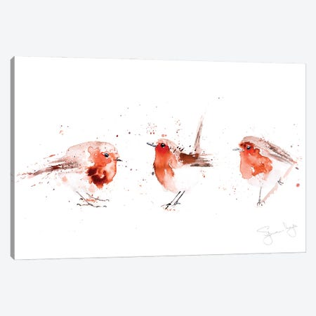 Robin III Fat Robins Canvas Print #SYK130} by Syman Kaye Canvas Artwork
