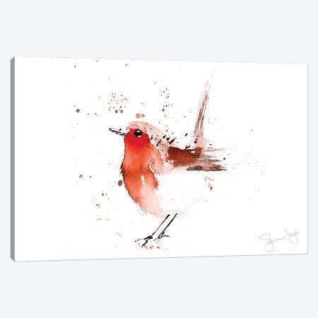 Robin Read Breast II Canvas Print #SYK132} by Syman Kaye Canvas Wall Art