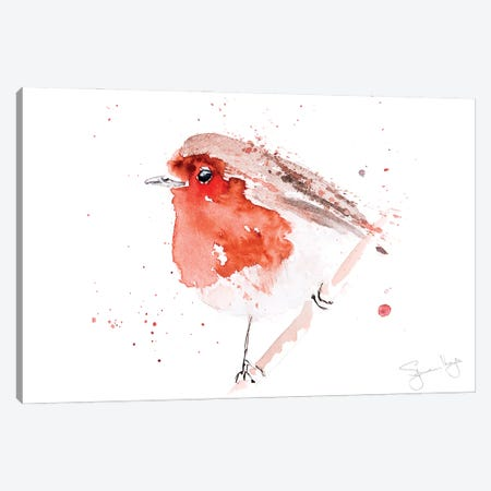 Robin Read Breast III Canvas Print #SYK133} by Syman Kaye Canvas Art