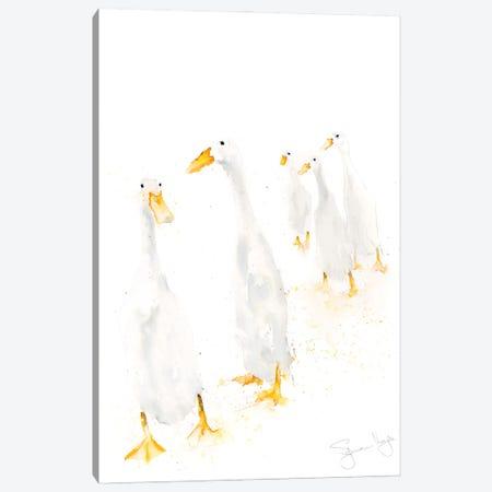 Runner Ducks Standing Canvas Print #SYK138} by Syman Kaye Canvas Art