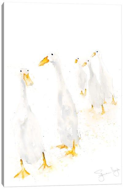 Runner Ducks Standing Canvas Art Print