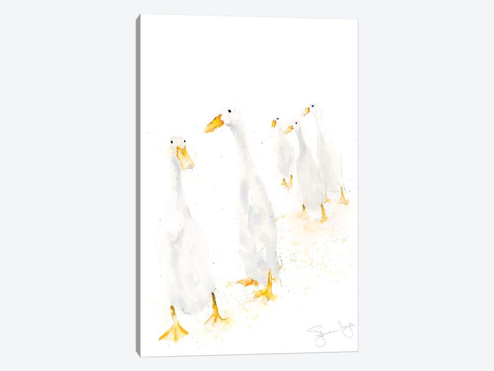 Runner Ducks Standing by Syman Kaye 1-piece Canvas Artwork
