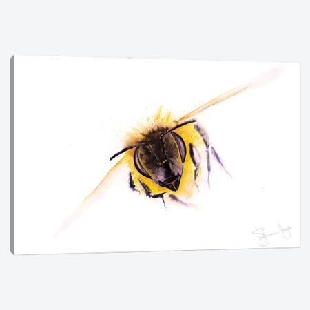 Bee Incoming Bee Canvas Print #SYK13} by Syman Kaye Canvas Art