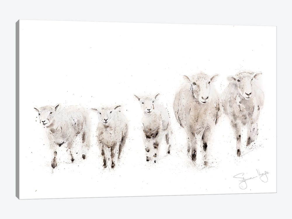 Sheep Family 1-piece Canvas Print