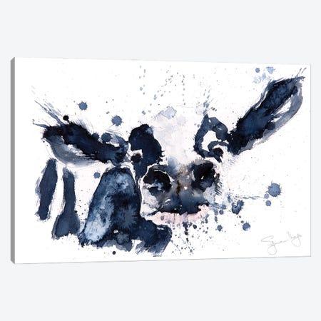 Silly Cow Canvas Print #SYK146} by Syman Kaye Canvas Artwork